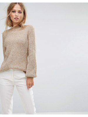 Y.a.s Ribbed Sweater With Balloon Sleeve