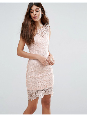 ZIBI LONDON Crochet Lace Pencil Dress