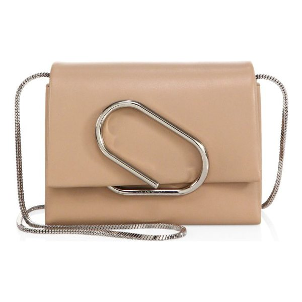3.1 PHILLIP LIM alix lamb leather crossbody bag - Luxe crossbody bag features edgy silvertone hardware....