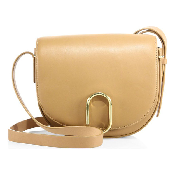 3.1 PHILLIP LIM alix leather saddle bag - Smooth leather saddle style with sleek paperclip clasp....