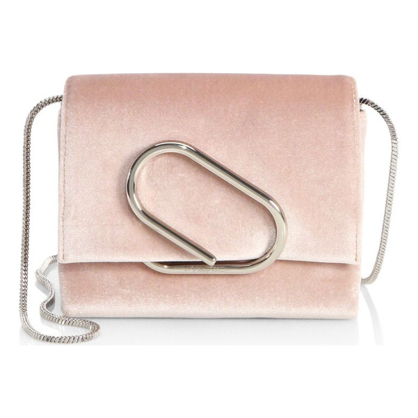 3.1 PHILLIP LIM alix micro velvet clutch - Elegant clutch highlights striking hardware detail....