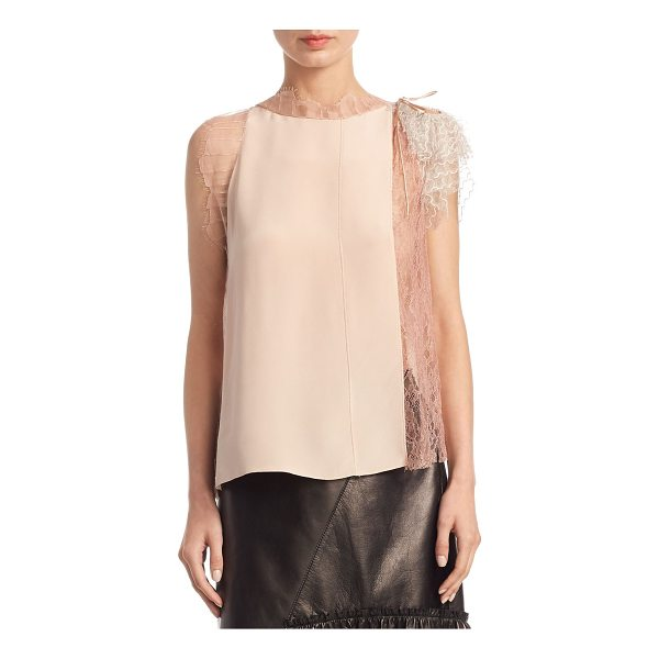 3.1 PHILLIP LIM lace silk top - EXCLUSIVELY AT SAKS.COM.Silk top with embroidered lace...