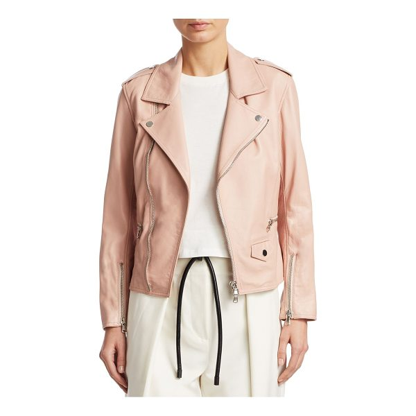 3.1 PHILLIP LIM leather moto jacket - EXCLUSIVELY AT SAKS FIFTH AVENUE. Sleek leather jacket with...