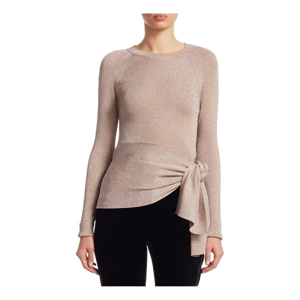 3.1 PHILLIP LIM metallic ribbed knit top - Ribbed knit top in shimmering metallic finish. Roundneck....
