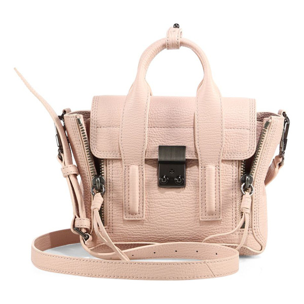 3.1 PHILLIP LIM pashli mini leather satchel - Iconic mini leather silhouette framed with zip gussets....