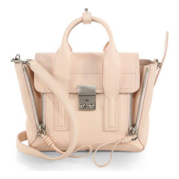 3.1 PHILLIP LIM Pashli mini shark-embossed leather satchel - A street-ready style in signature shark-effect leather with...