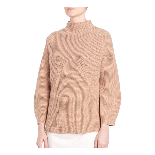 3.1 PHILLIP LIM Ribbed mockneck sweater - Classic pullover with lush applique detailsMockneckRaglan...