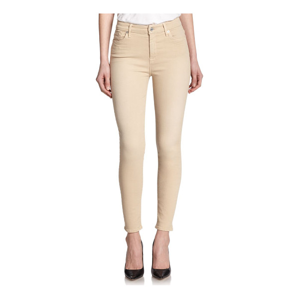 7 FOR ALL MANKIND High waist ankle skinny jeans - Colored denim crafted in a body-hugging, ankle silhouette...
