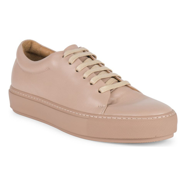 ACNE STUDIOS adriana turnup leather sneakers - Smooth leather low-top sneaker set on rubber platform....