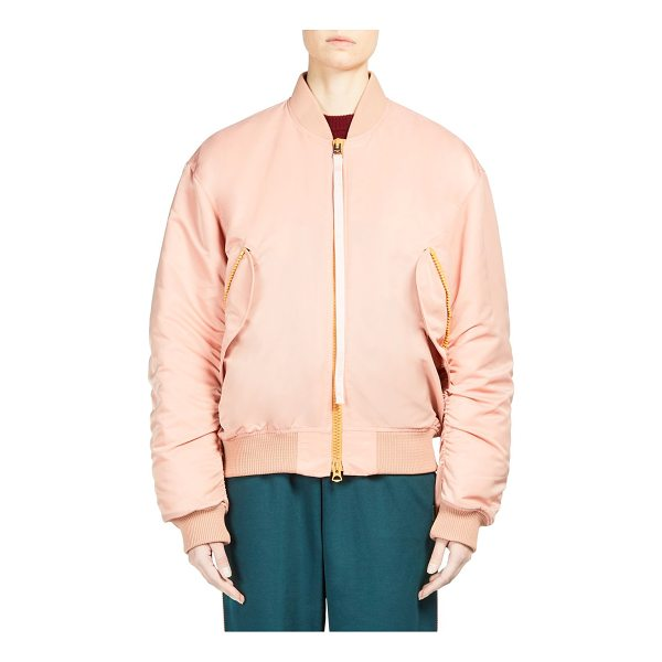 ACNE STUDIOS clea bomber jacket - Zip front bomber jacket with ribbed trim. Stand collar....
