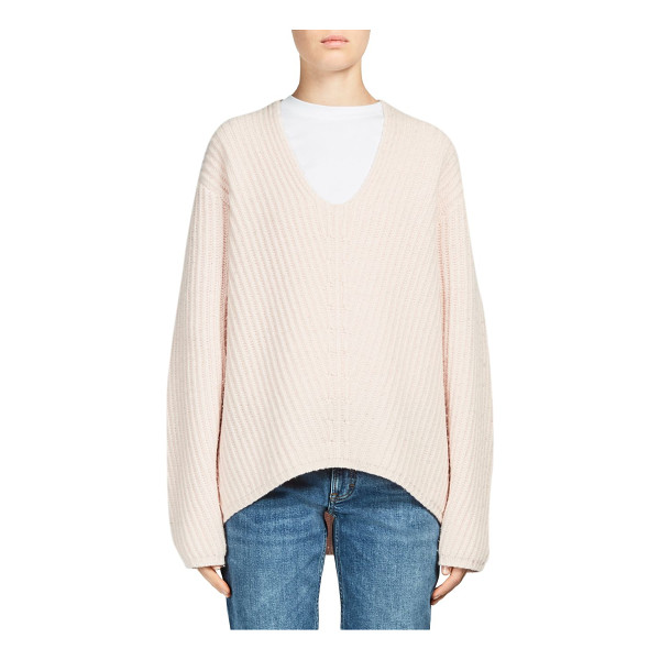 ACNE STUDIOS deborah wool sweater - Comfy sweater tailored in luxurious wool fabric. Scoopneck....
