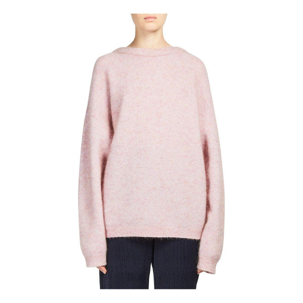 ACNE STUDIOS dramatic longline sweater - Rib-knit sweater in a cocoon-like loose design. Boatneck....