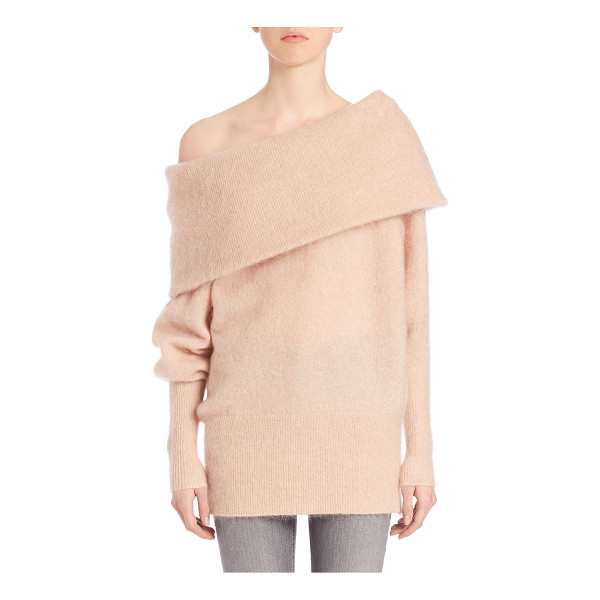 ACNE STUDIOS Off-the-shoulder oversized sweater - Sweater with exaggerated off-the-shoulder neckline....
