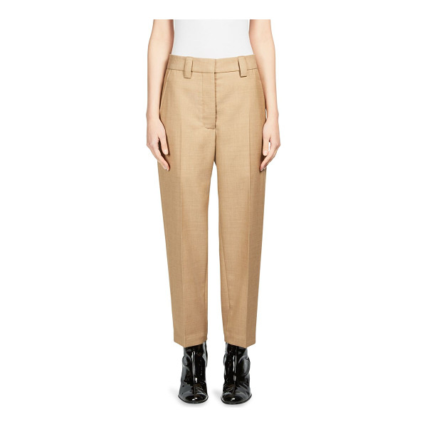 ACNE STUDIOS trea struct wool trousers - Solid trousers featuring a pleated front. Belt loops. Side...