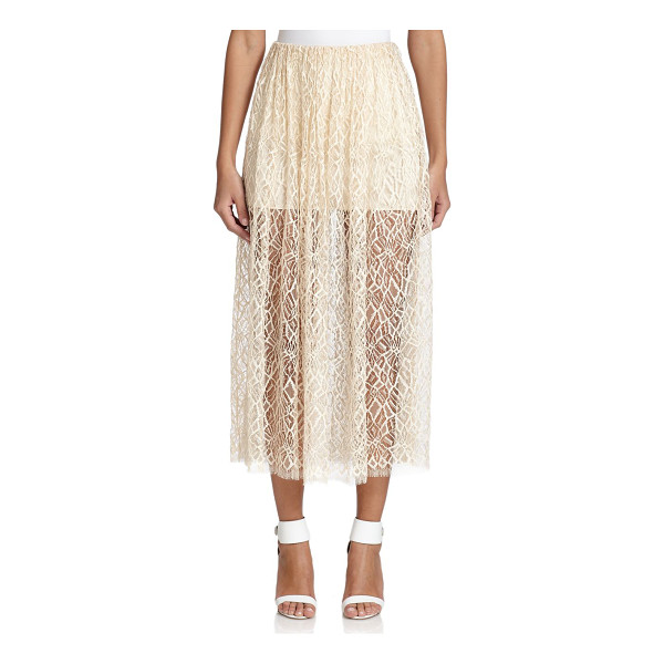 ADAM LIPPES Double-layer lace midi skirt - An ethereal design in abstract-patterned lace, finished...