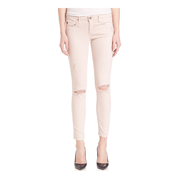 AG ADRIANO GOLDSCHMIED ed denim distressed legging ankle jeans - From the AGed Denim collection. On-trend skinny fit...