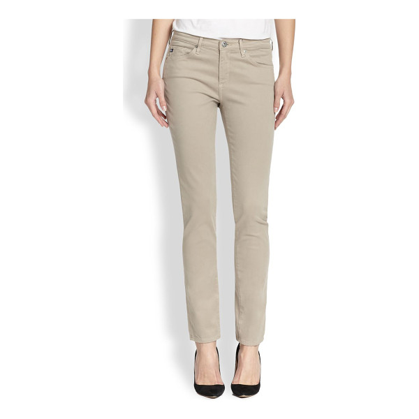 AG ADRIANO GOLDSCHMIED Prima sateen slim straight-leg jeans - EXCLUSIVELY AT SAKS. These slim straight-leg jeans are...