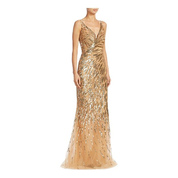 AHLUWALIA rosiers sequin gown - Radiant sequin embellished gown in V-neck style.V-neck....