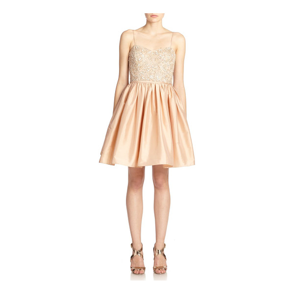 AIDAN MATTOX Bead-top party dress - A sequined and beaded bustier dresses up this charming...