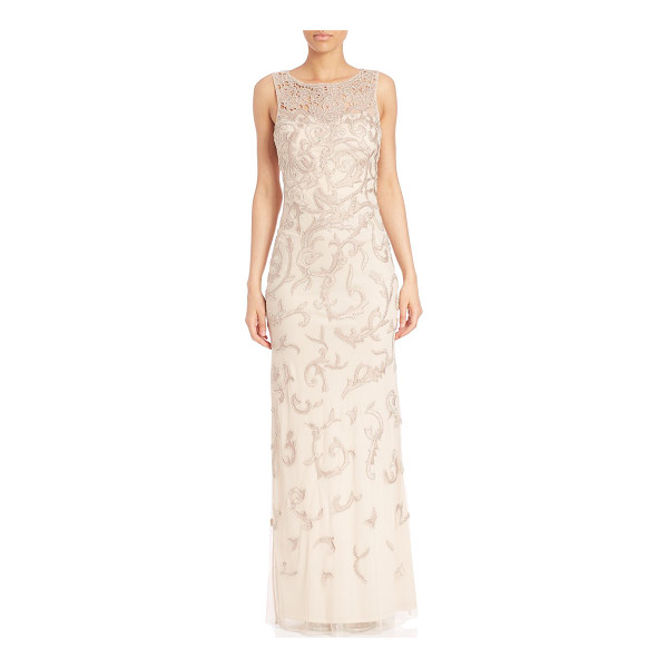 AIDAN MATTOX beaded embroidery gown - Striking bead embellished gown for a feminine flare....