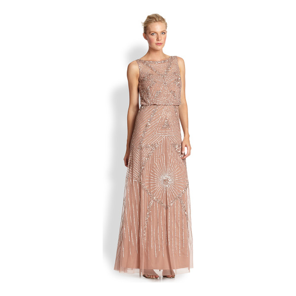 AIDAN MATTOX Beaded gown - Strategically placed sequins deliver a sense of glamour to...