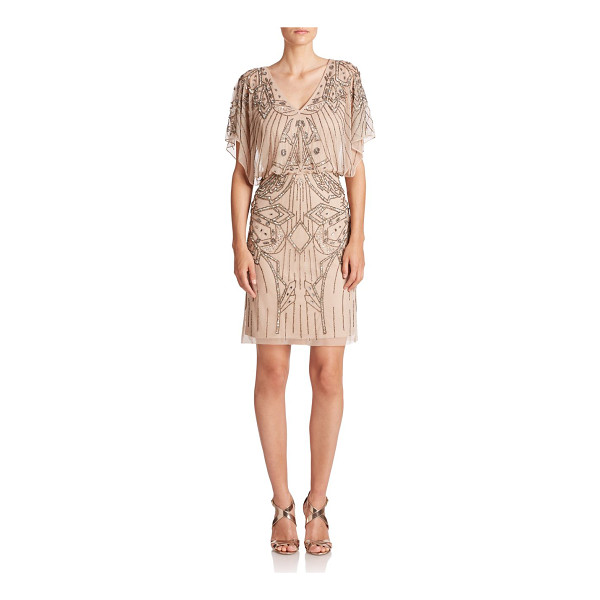 AIDAN MATTOX Embellished blouson dress - Enchanting beading in bewitching designs adds a dose of...
