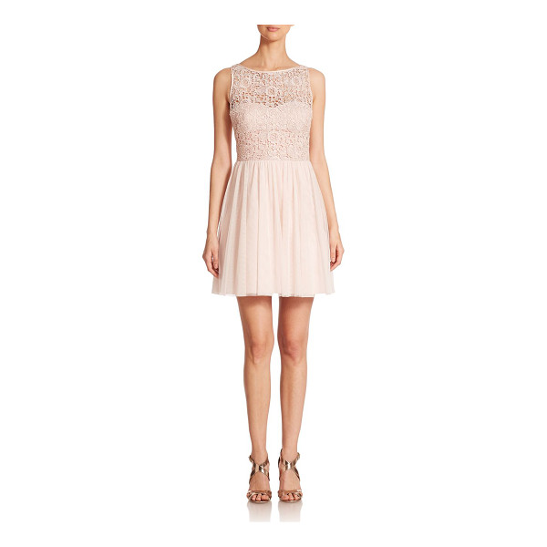 AIDAN MATTOX Lace-bodice bridesmaid dress - Bridesmaids looking for a fun and flirty style will...