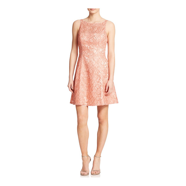 AIDAN MATTOX Lace fit & flare dress - A beautiful, intricate lace design instantly elevates this...