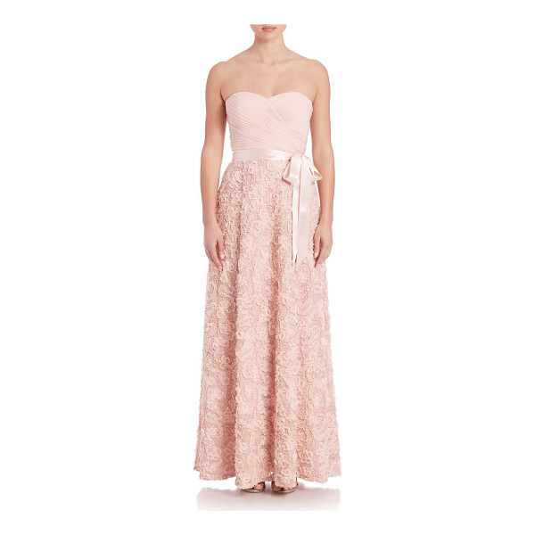 AIDAN MATTOX strapless sequin gown - Gorgeous gown with beautiful sequin lace details....