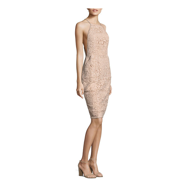AIRLIE isolla bell midi dress - Midi polyester-blend dress featuring lace pattern and back...