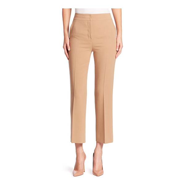 AKRIS cara wool pants - Cropped straight-leg silhouette tailored in double face...