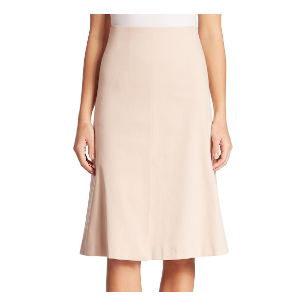 AKRIS cotton double face a-line skirt - The forever flattering a-line silhouette in a soft palette....