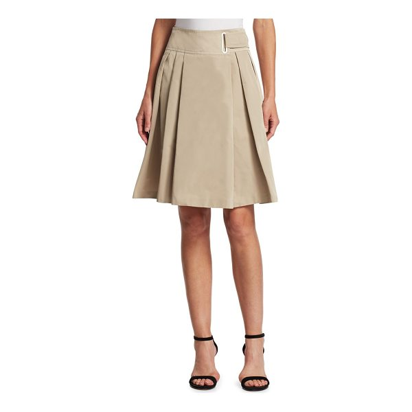 AKRIS PUNTO belted a-line skirt - Belted A-line skirt with pleated detailing. Belted waist....
