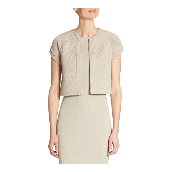 AKRIS PUNTO cropped wool cardigan - EXCLUSIVELY AT SAKS FIFTH AVENUE. Elegant cropped banded...