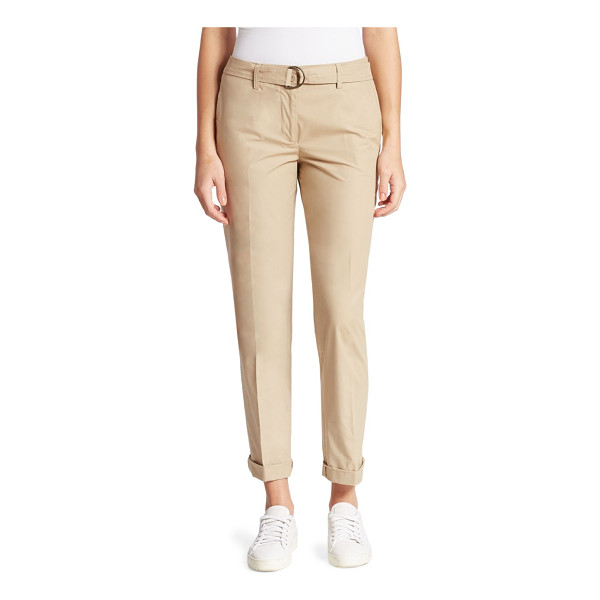 AKRIS PUNTO cotton cropped pants - Lightweight cotton pants in a cropped silhouette. Belt...