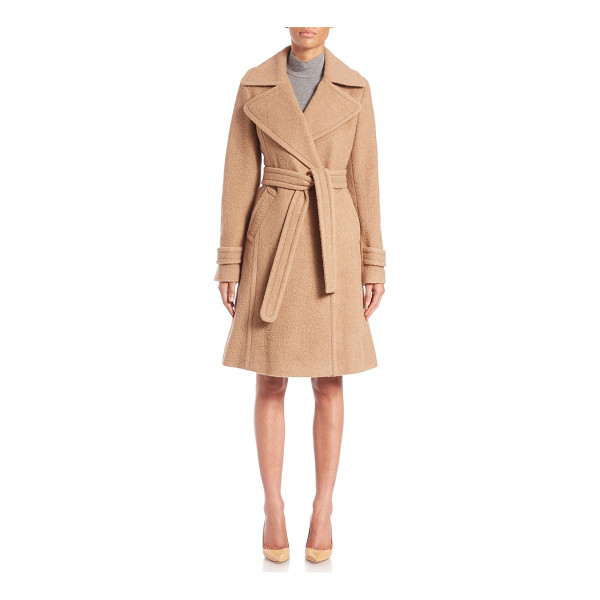 AKRIS PUNTO Vintage nubby wool coat - A self-tie belt wraps the waist of this robe-style coat,...
