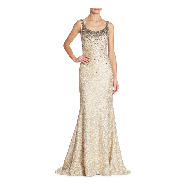 ALBERTO MAKALI beaded mermaid gown - Sparkling degrade beading styles elegant mermaid gown....