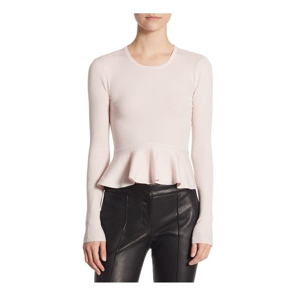 A.L.C. alex peplum sweater - EXCLUSIVELY AT SAKS FIFTH AVENUE. Fitted wool-blend sweater...
