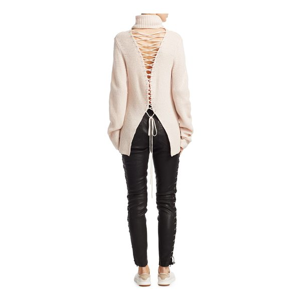 A.L.C. alexander lace-up sweater - EXCLUSIVELY AT SAKS FIFTH AVENUE. Wool-blend sweater...