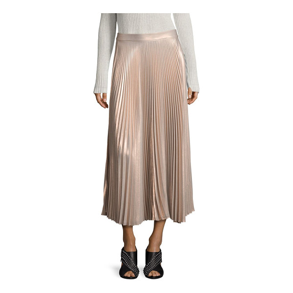 A.L.C. bobby metallic pleated maxi skirt - Fluid, pleated maxi skirt in glimmering metallic finish....