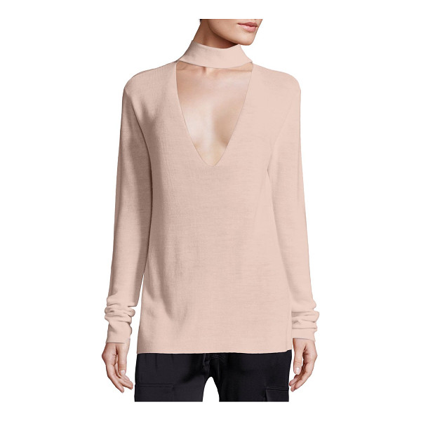 A.L.C. caro merino wool cutout sweater - Alluring, plunging cutout updates mockneck sweater....