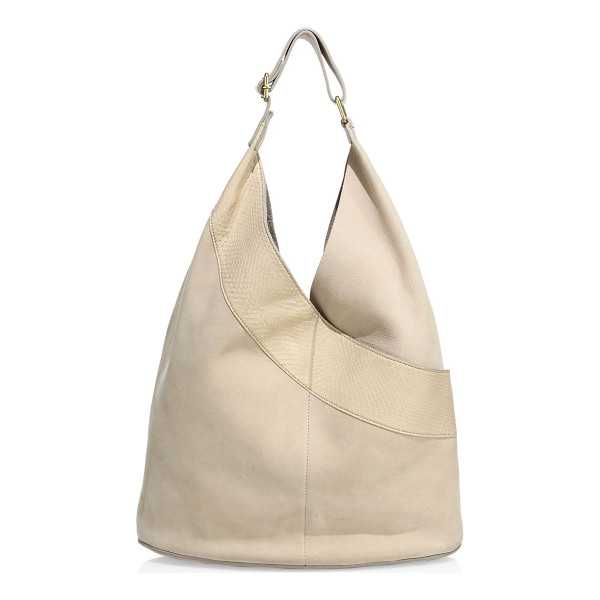 A.L.C. leather & watersnake hobo bag - Modern hobo bag with a watersnake leather patch. Adjustable...
