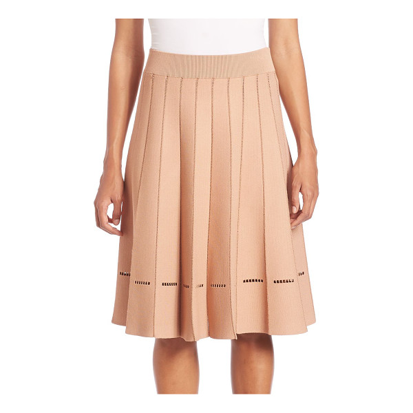A.L.C. nicole pleated skirt - Feminine pleated skirt with stitch detail at hem. Banded...