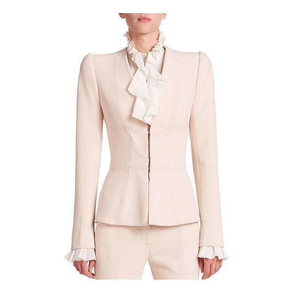 ALEXANDER MCQUEEN Compact seamed blazer - Structured shoulders and geometric seaming details embolden...