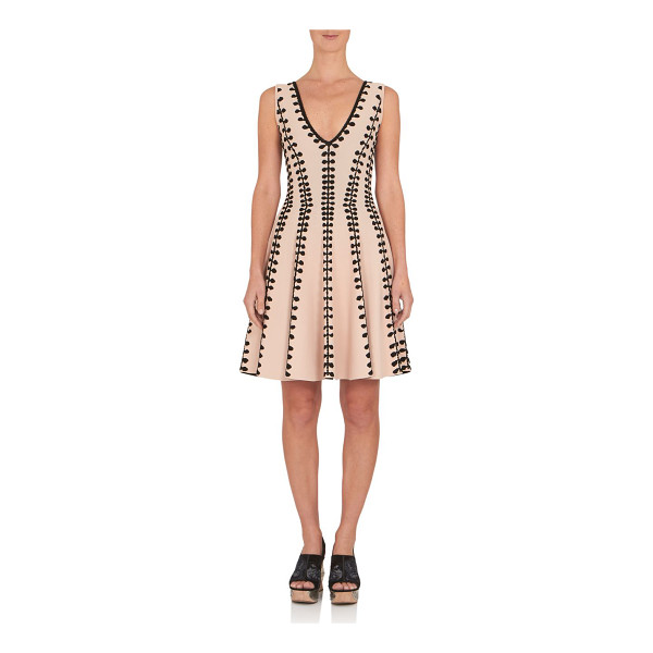 ALEXANDER MCQUEEN Jacquard fit-&-flare dress - Jacquard dress cut in fit-and-flare...