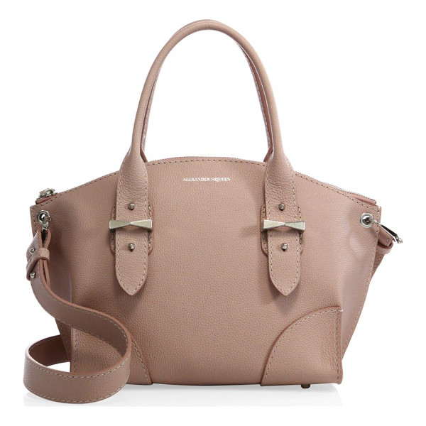 ALEXANDER MCQUEEN Legend small pebbled leather zip satchel - Sleek, timeless silhouette in soft pebbled leatherDouble...