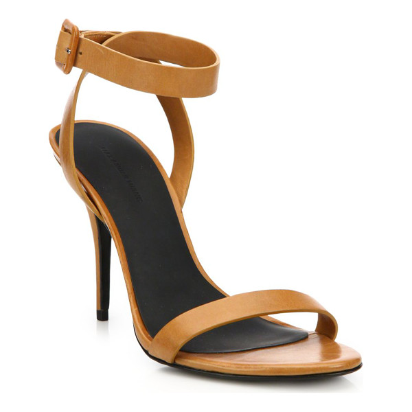 """ALEXANDER WANG Atalya leather sandals - Sleek strap design in rich leatherSelf-covered heel, 4""""..."""