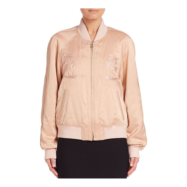 ALEXANDER WANG california embroidered bomber jacket - Tropical prints render a cool, laid-back style. Baseball...