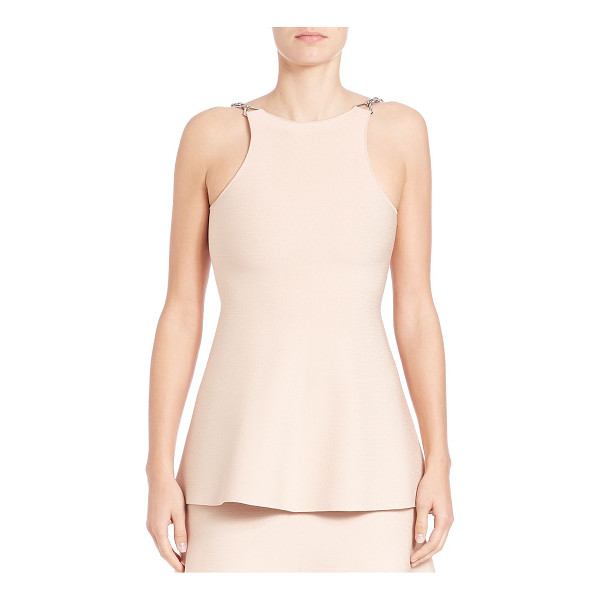 ALEXANDER WANG chain-detail peplum tank top - Knit peplum tank finished with chain straps. Bateau...