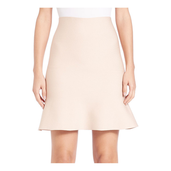 ALEXANDER WANG flute-hem skirt - Wardrobe staple shaped by flirty fluted hem. Self waist....